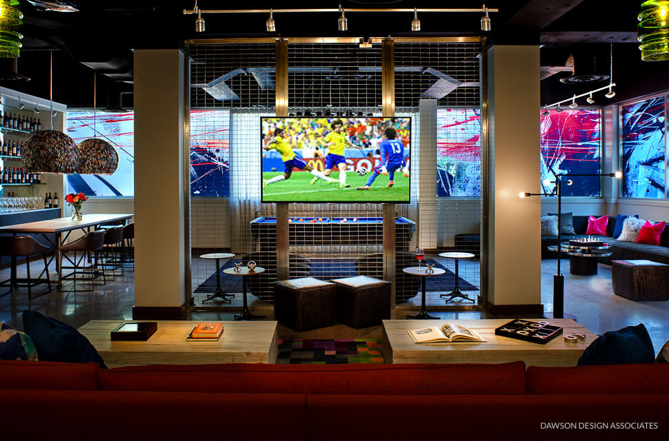hotel modera game room dawson design associates