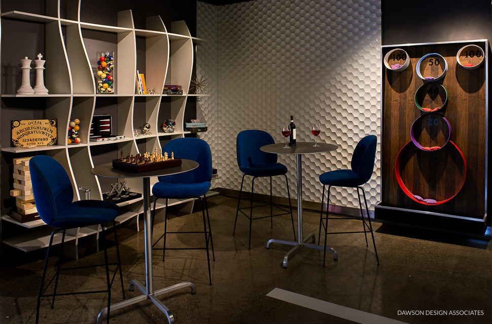 Hotel modera game room dawson design associates for Design hotel few steps from the david