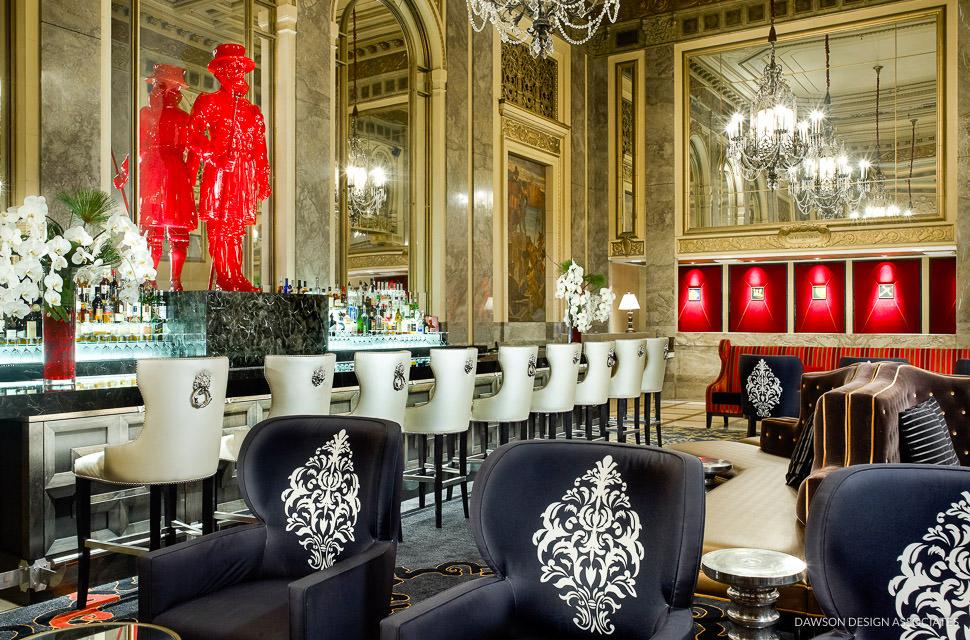 Sir francis drake hotel public space dawson design for Drake hotel decor