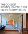 "Hotel Zetta is #1 ""Coolest Boutique Hotels for Business Travellers"""